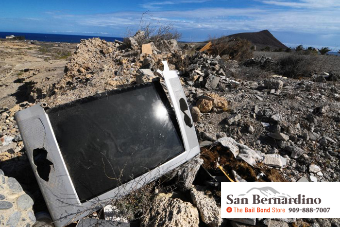 consequences for illegal dumping- san bernardino bail bonds
